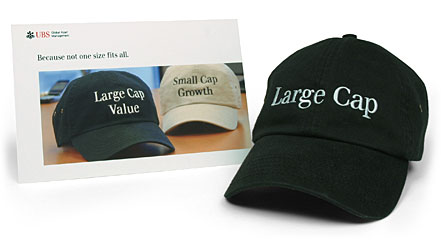 large cap postcard and hat